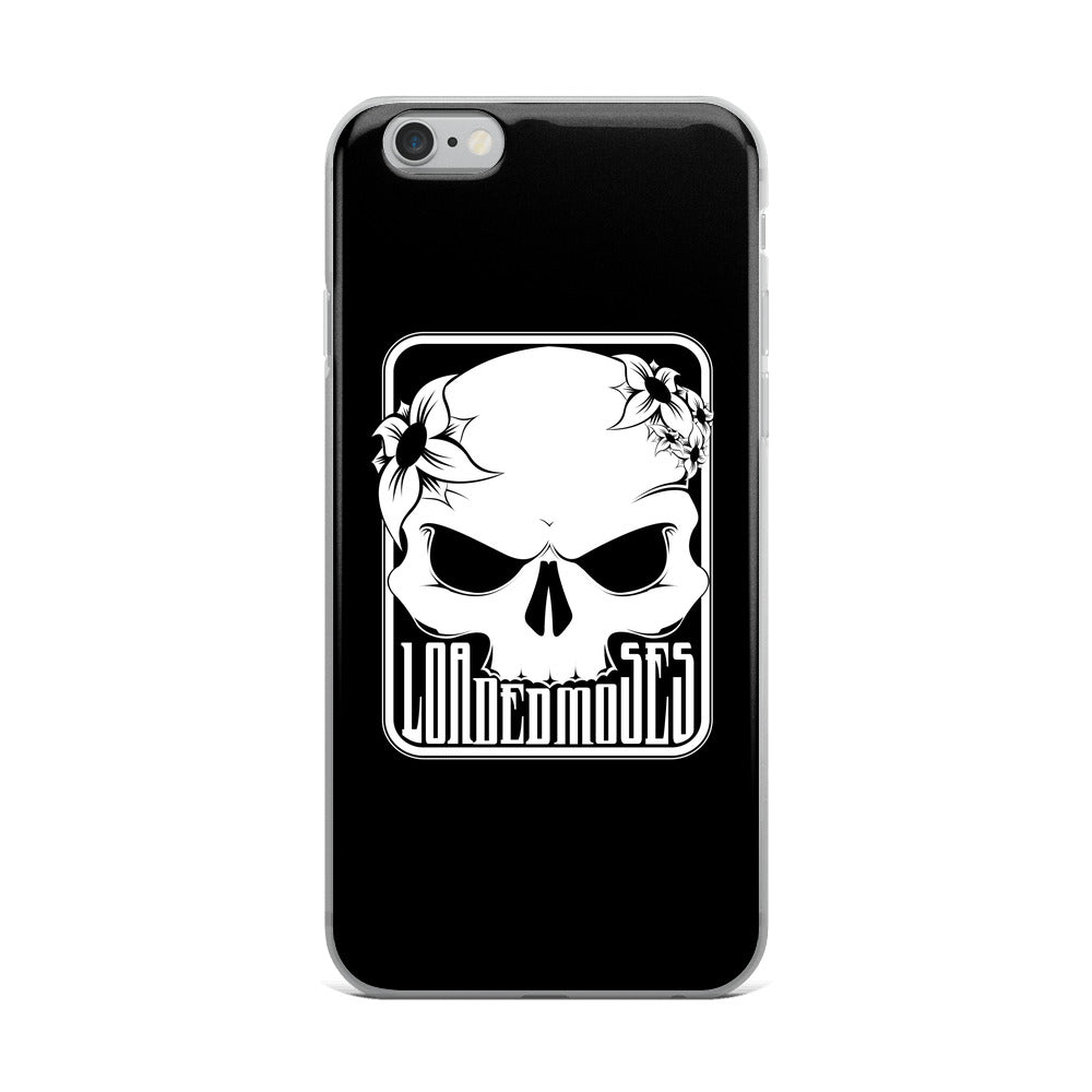 Loaded Moses Skull & Flowers iPhone Case