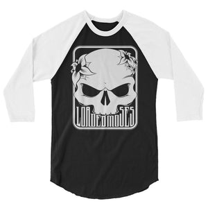 Loaded Moses Skull & Flowers 3/4 sleeve raglan shirt