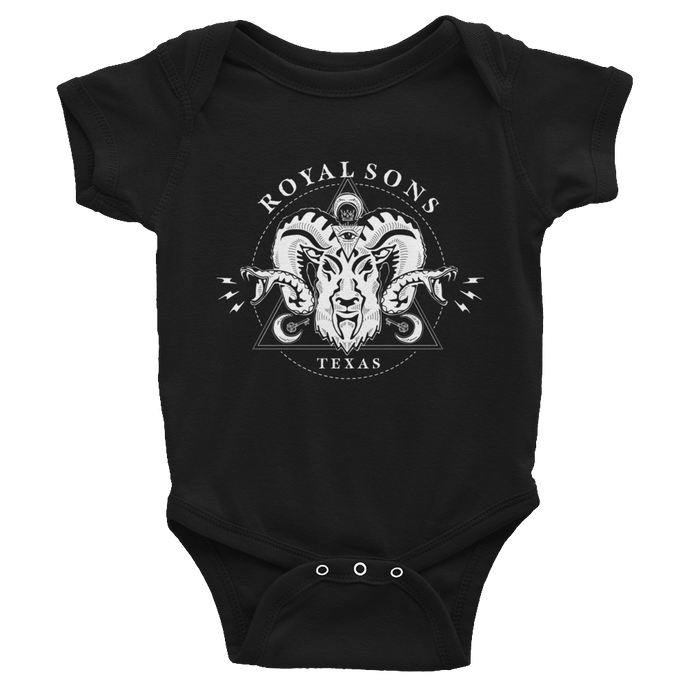 Royal Sons - Infant Rattle Ram Bodysuit - White