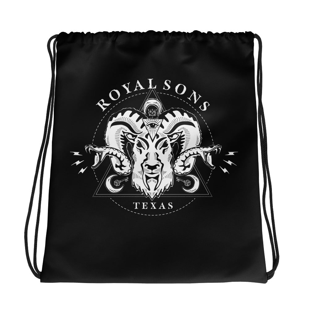 Royal Sons - Rattle Ram Drawstring Bag - White