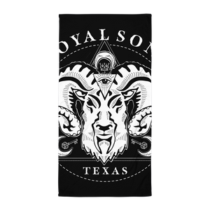 Royal Sons - Rattle Ram Beach Towel - White