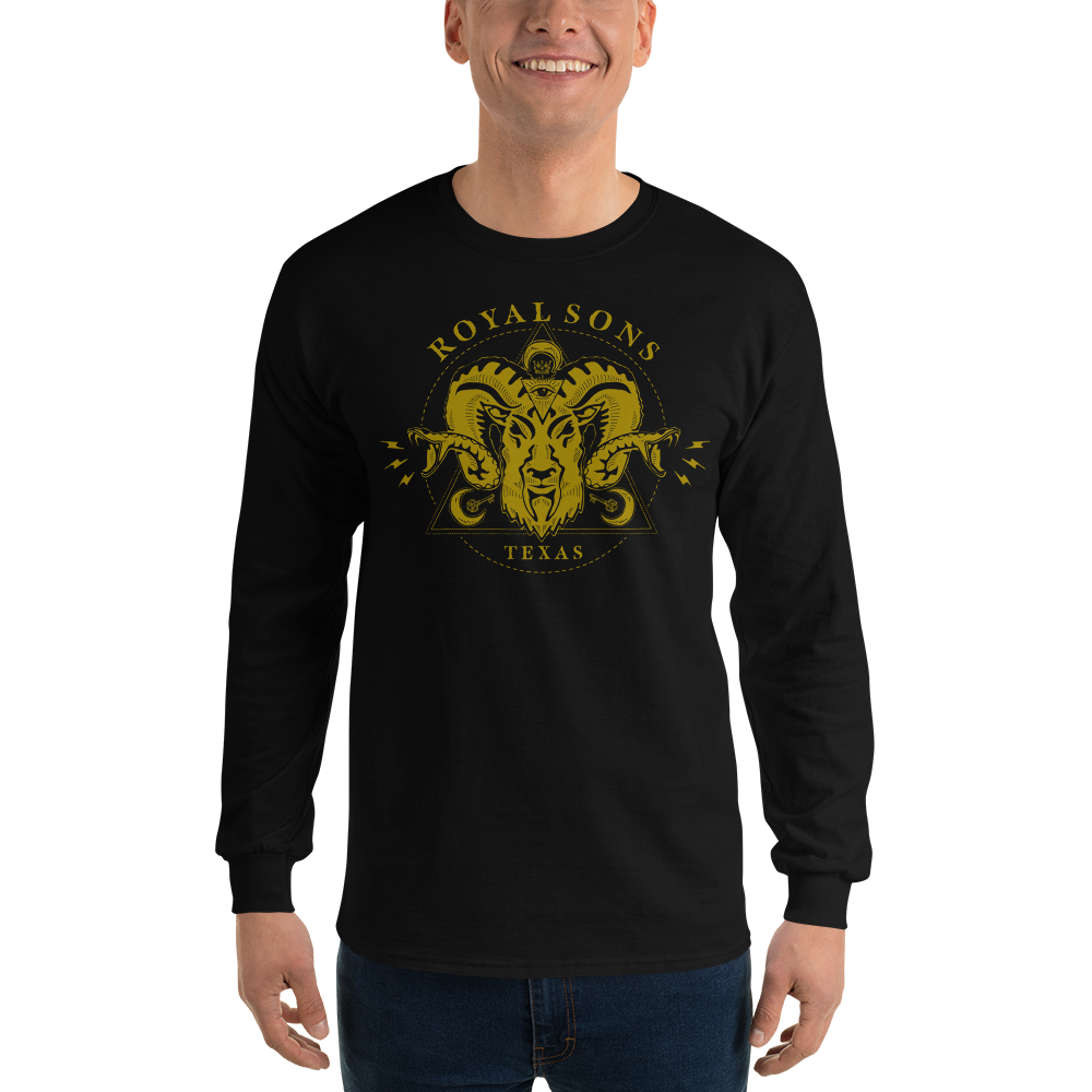 Royal Sons - Long Sleeve Rattle Ram Tee - Gold