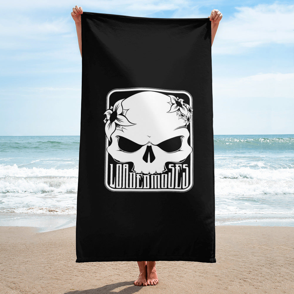 Loaded Moses Skull & Flowers Towel