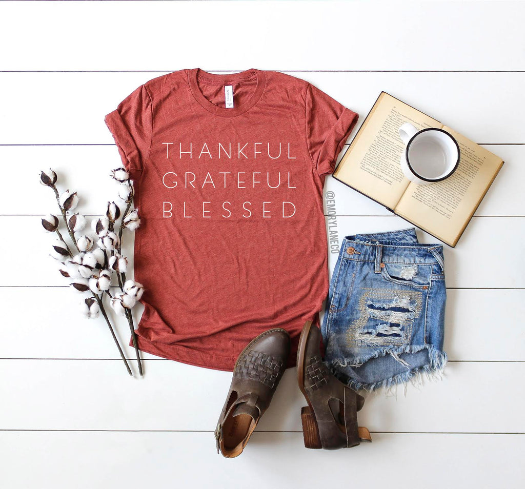 Thankful, Grateful, Blessed Unisex Top