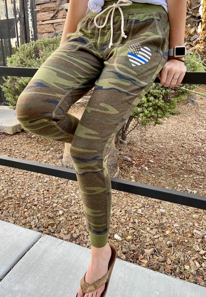 TBL Heart Flag CAMO Eco-Jersey™ Women's Jogger [Final Sale]