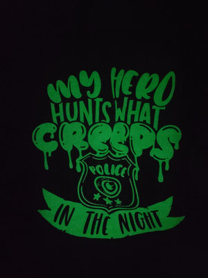 My Hero Hunts What Creeps In The Night © Unisex L/S Top (Glow In The Dark)