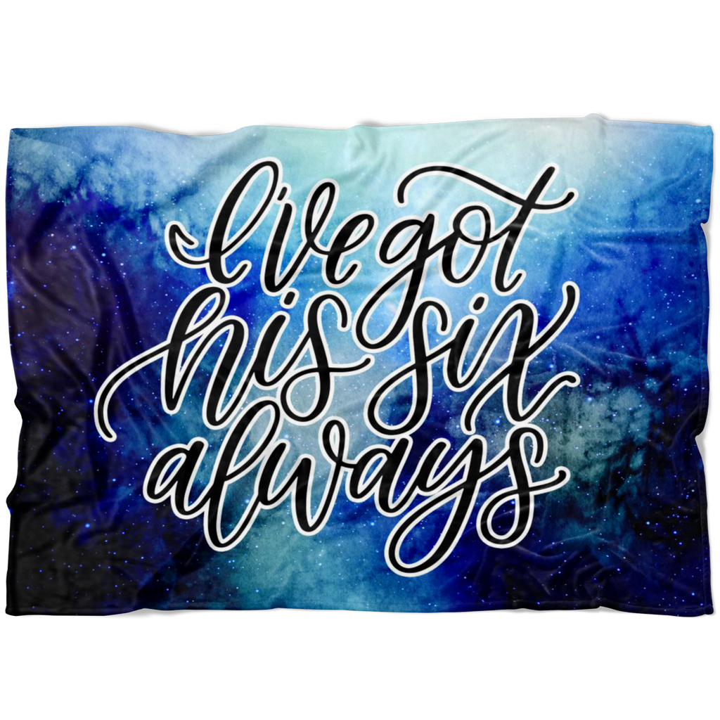 I've Got His Six, Always © Watercolor Fleece Blanket