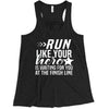 Run Like Your Hero / 5PT Badge Ladies Flowy Racerback