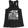 Run Like Your Hero / 7PT Badge Ladies Flowy Racerback
