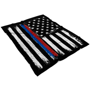 Distressed TBL/TRL Stars and Stripes Fleece Blanket