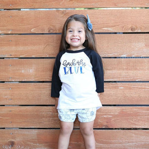 Back the Blue Youth Baseball Raglan