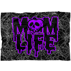 Mom Life Rotten Slime © Fleece Blanket (Purple)