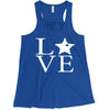 LEO 5PT Love Square Ladies Flowy Racerback Tank