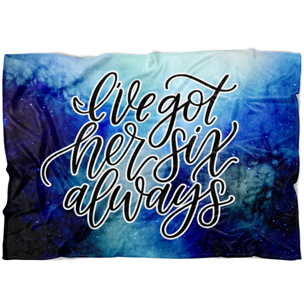 I've Got Her Six, Always © Watercolor Fleece Blanket