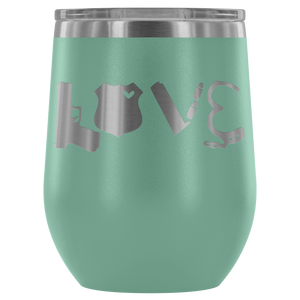 Love Police Gear 12oz Wine Tumbler