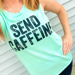 Send Caffeine Ladies Flowy Muscle Tank