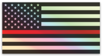 Thin Red Line Flag © Holographic Printed Decal