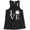 LEO 7PT Love Square Ladies Flowy Racerback Tank