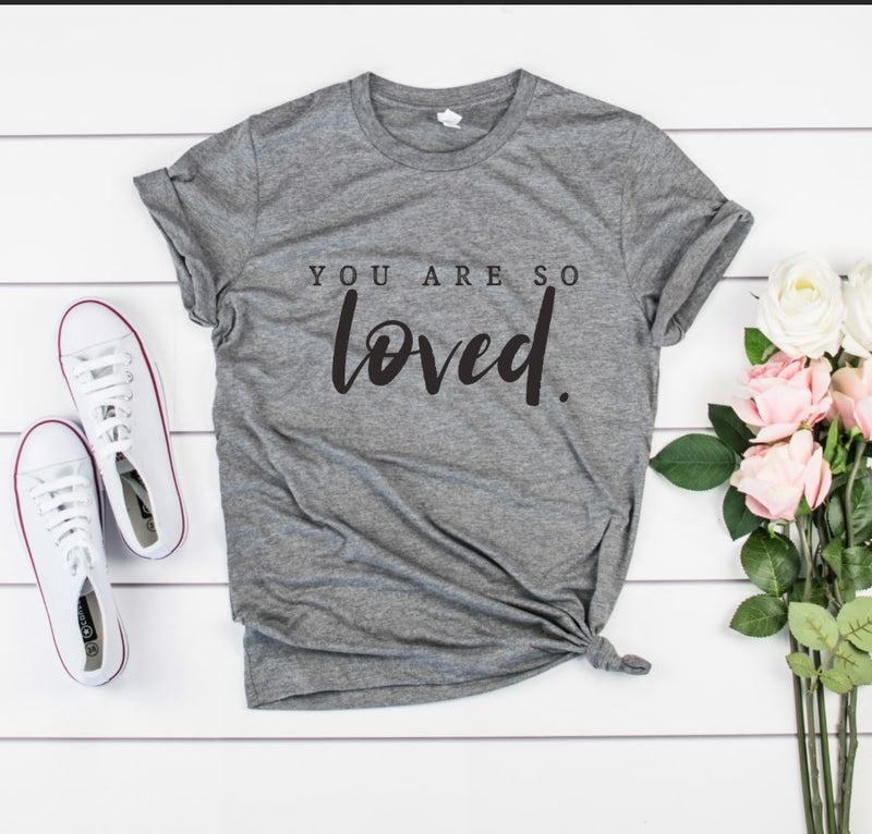 You Are Loved Unisex Top (Black)