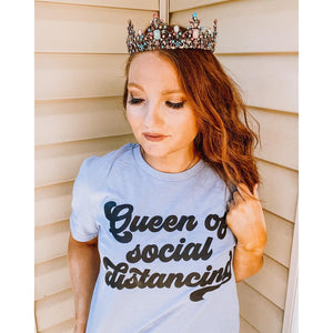 Queen of Social Distancing Unisex Top (Black)