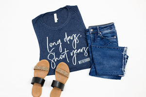 Long Days, Short Years Ladies Flowy Muscle Tank