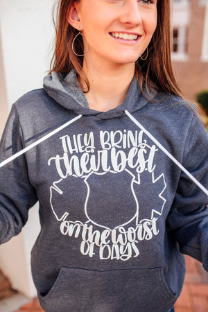They Bring Their Best On The Worst Of Days © Unisex Pullover Hoodie (White)