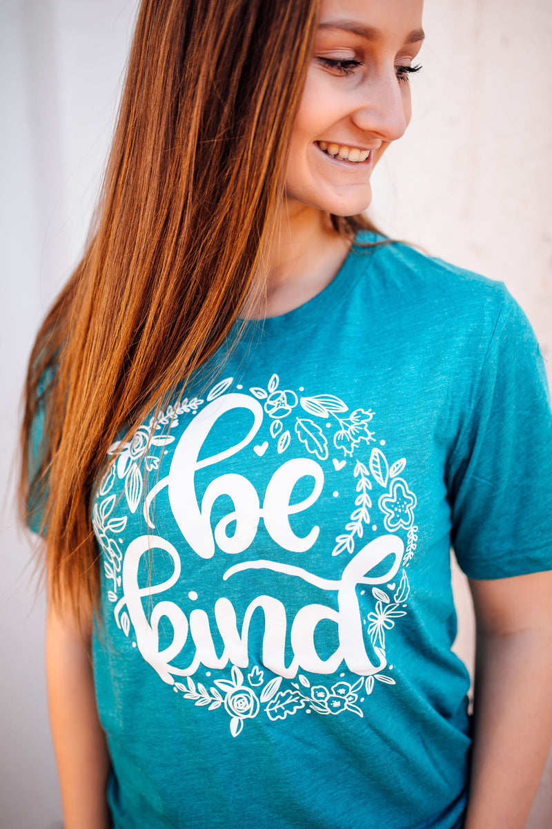 Be Kind Script Unisex Tee (White)