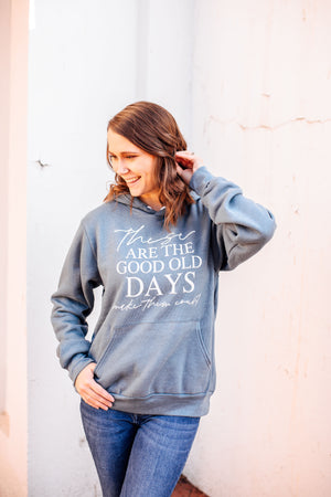 These Are The Good Old Days Unisex Pullover Hoodie (White)