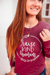 Raise Kind Humans L/S Crewneck Unisex Top (White)