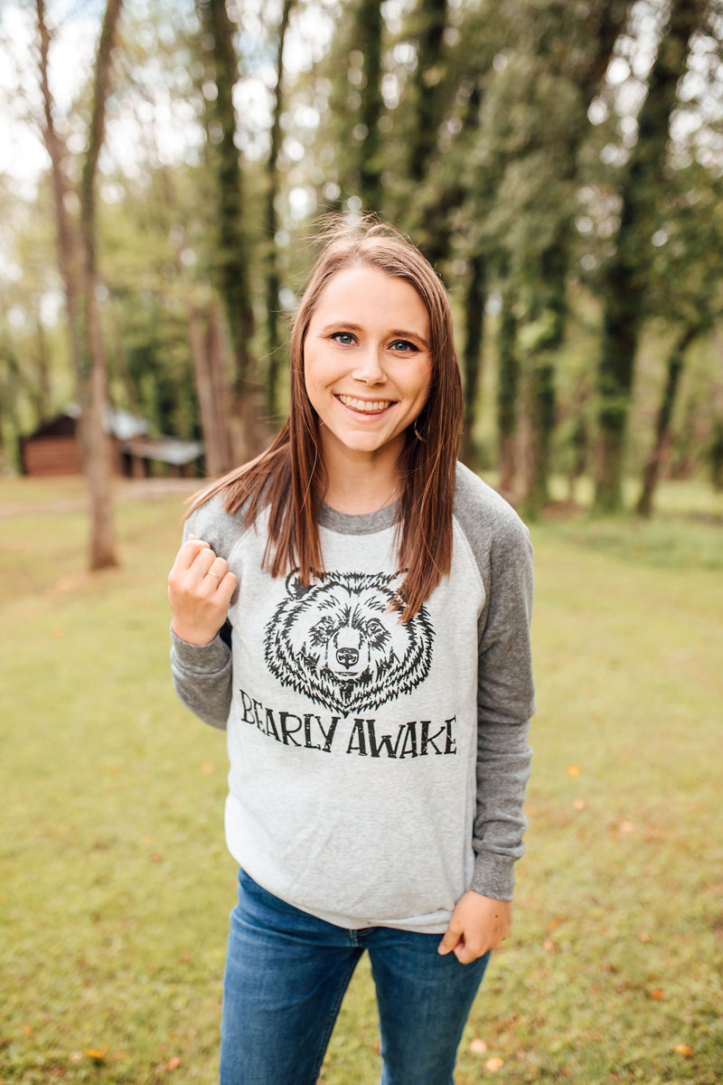 Barely Awake Unisex Crewneck Sweatshirt (Black)