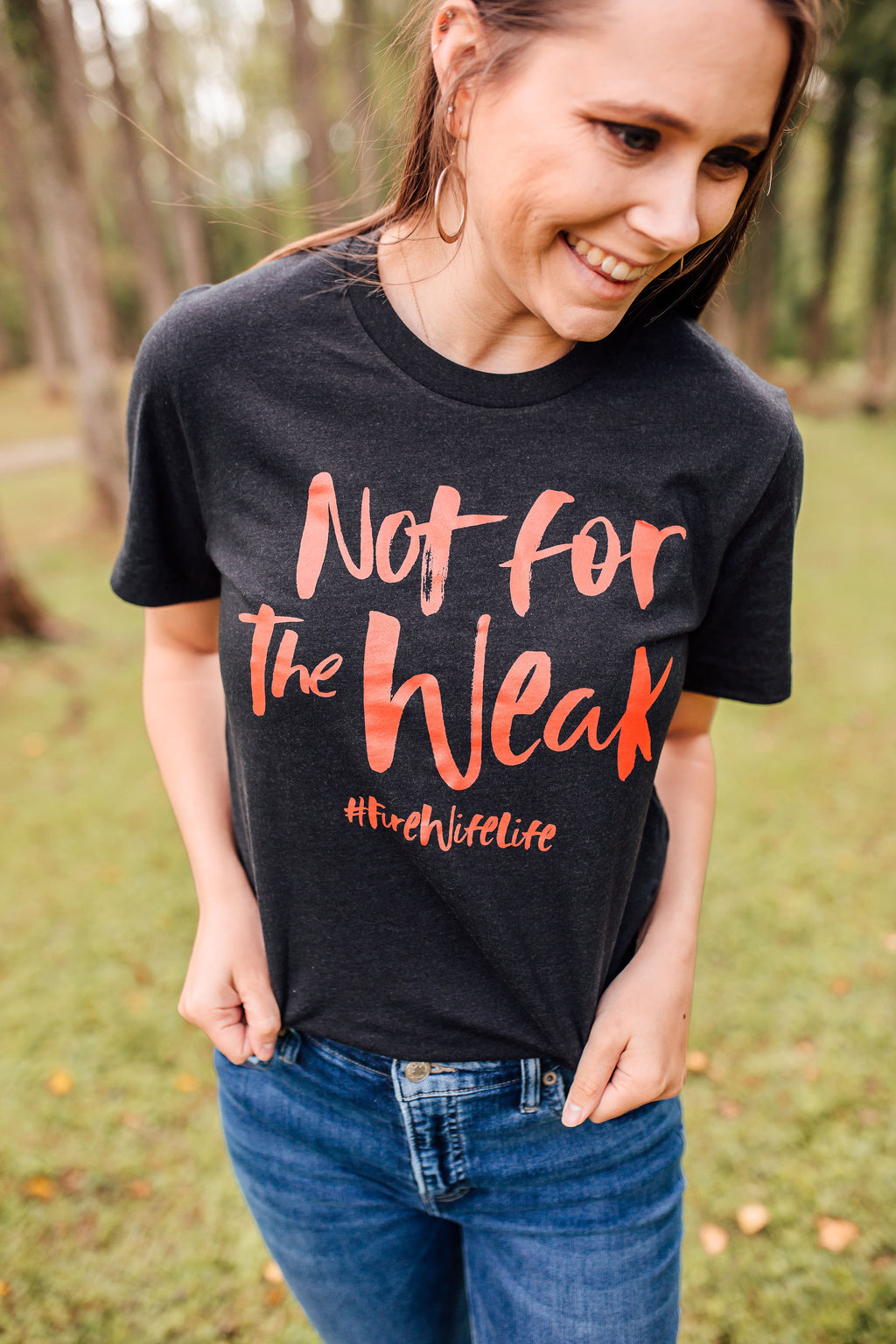 Not For The Weak #FireWifeLife Unisex Top (Red)