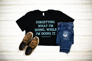 Forgetting What I'm Doing #Mombrain Unisex Tee (Bright Blue)