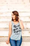Always Expect The Unexpected Women's Scoop Tank (Denim + Black)