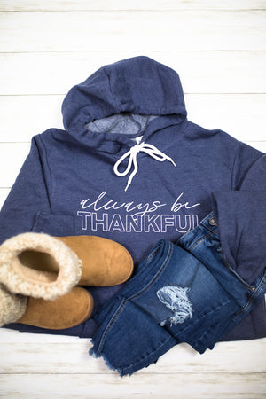 Always Be Thankful © Unisex Pullover Hoodie (White)