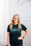 Always Be Thankful Unisex Tee (Evergreen Triblend + White)