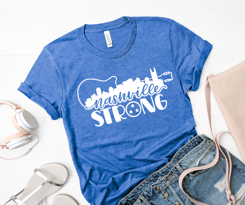 Nashville Strong Unisex Top (White)