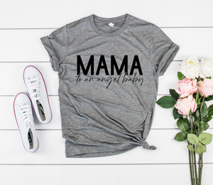 Mama To An Angel Baby Unisex Top (Black)