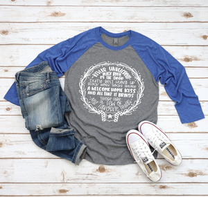 These Are A Few Of My Favorite Things © Unisex Baseball Raglan (White)