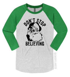 Don't Stop Believing Unisex Baseball Raglan