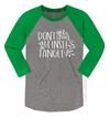 Don't Get Your Tinsel In A Tangle Unisex Baseball Raglan
