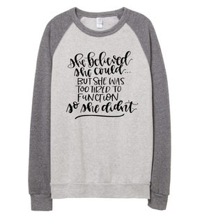 Too Tired To Function Unisex Crewneck Sweatshirt