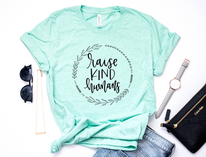 Raise Kind Humans Unisex Top / Black Ink