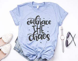 Embrace The Chaos / Black Glitter Unisex Top