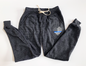 TBL Heart Flag Eco-Fleece™ Women's Jogger / Eco Black [Final Sale]