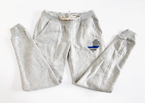 TBL Heart Flag Eco-Fleece™ Women's Jogger / Ash Gray [Final Sale]