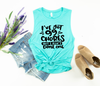 99 Problems Ladies Flowy Muscle Tank