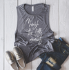 Cherish The Little Moments Ladies Flowy Muscle Tank