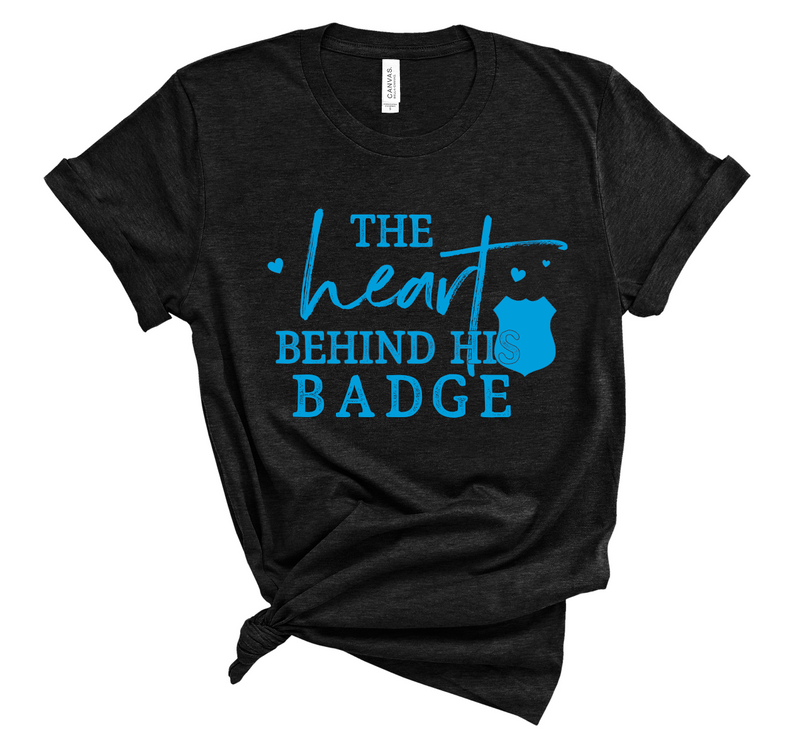 The Heart Behind His Badge Unisex Top