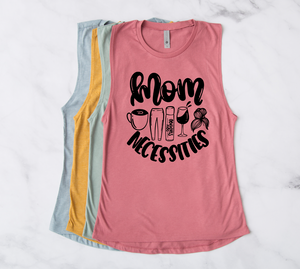 Mom Necessities Ladies Festival Muscle Tank (Black)