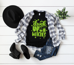 Drink Up Witches Unisex Top (Bright Green)